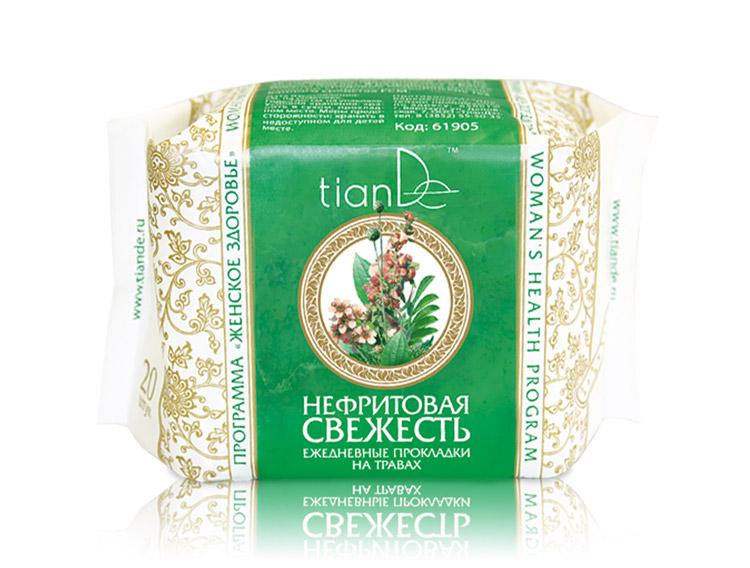купить Ежедневные прокладки на травах «Нефритовая свежесть» TianDe ТианДе