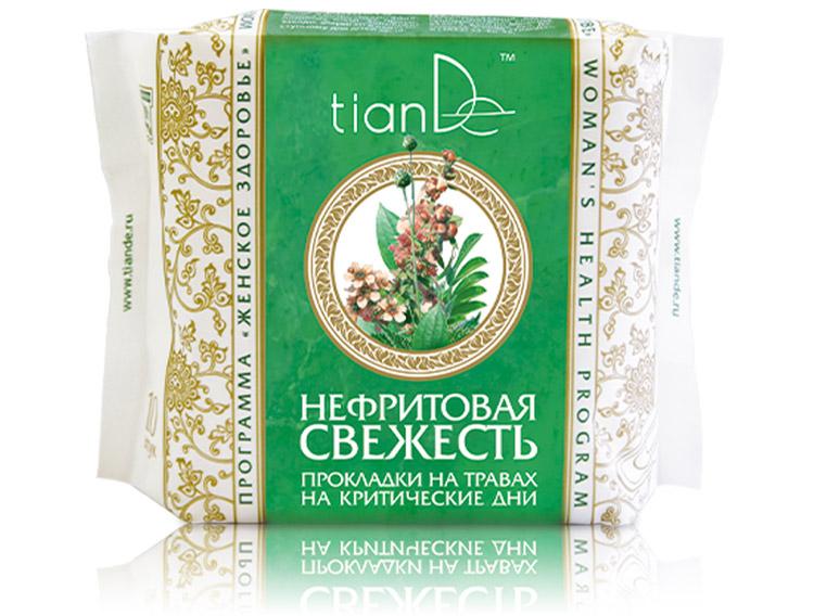 купить Прокладки на травах на критические дни «Нефритовая свежесть» TianDe ТианДе