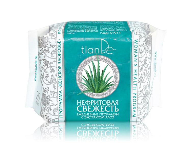 купить Ежедневные прокладки с экстрактом алоэ «Нефритовая свежесть» TianDe ТианДе