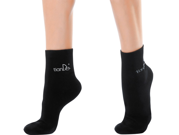 Хлопковые носки с точечным нанесением турмалина, размер 22 см