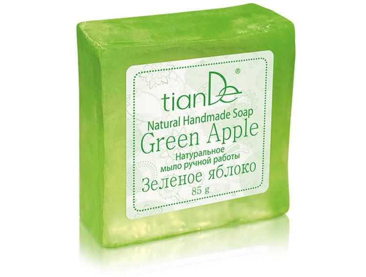 Натуральное мыло ручной работы «Зеленое яблоко», 85г