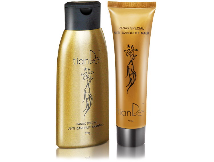 купить Набор TianDe с экстрактом женьшеня: шампунь+маска - Комплексное восстановление волос ТианДе