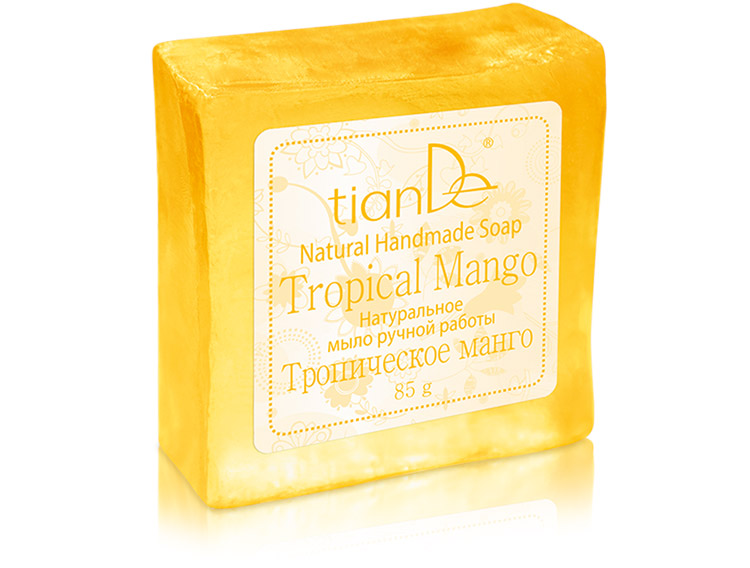 Натуральное мыло ручной работы «Тропическое манго», 85г