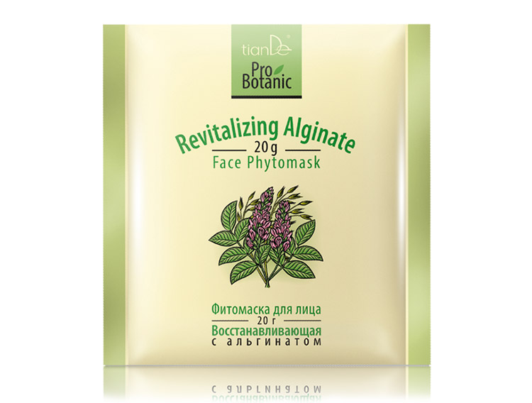 купить Фитомаска для лица «Восстанавливающая с альгинатом» Pro Botanic TianDe - Эффективный лифтинг! ТианДе