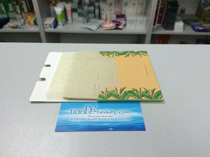 купить Матирующие салфетки для лица с зеленым чаем Pro Botanic TianDe – Матовая кожа в одно прикосновение ТианДе