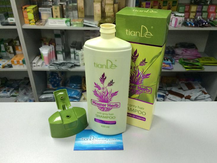 купить Шампунь от седины Master Herb TianDe – Восстановление структуры и цвета волос! ТианДе