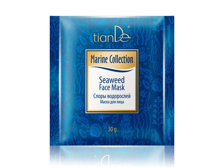 купить Маска для лица «Споры водорослей» TianDe – Текстура удивляет, эффект потрясает! ТианДе
