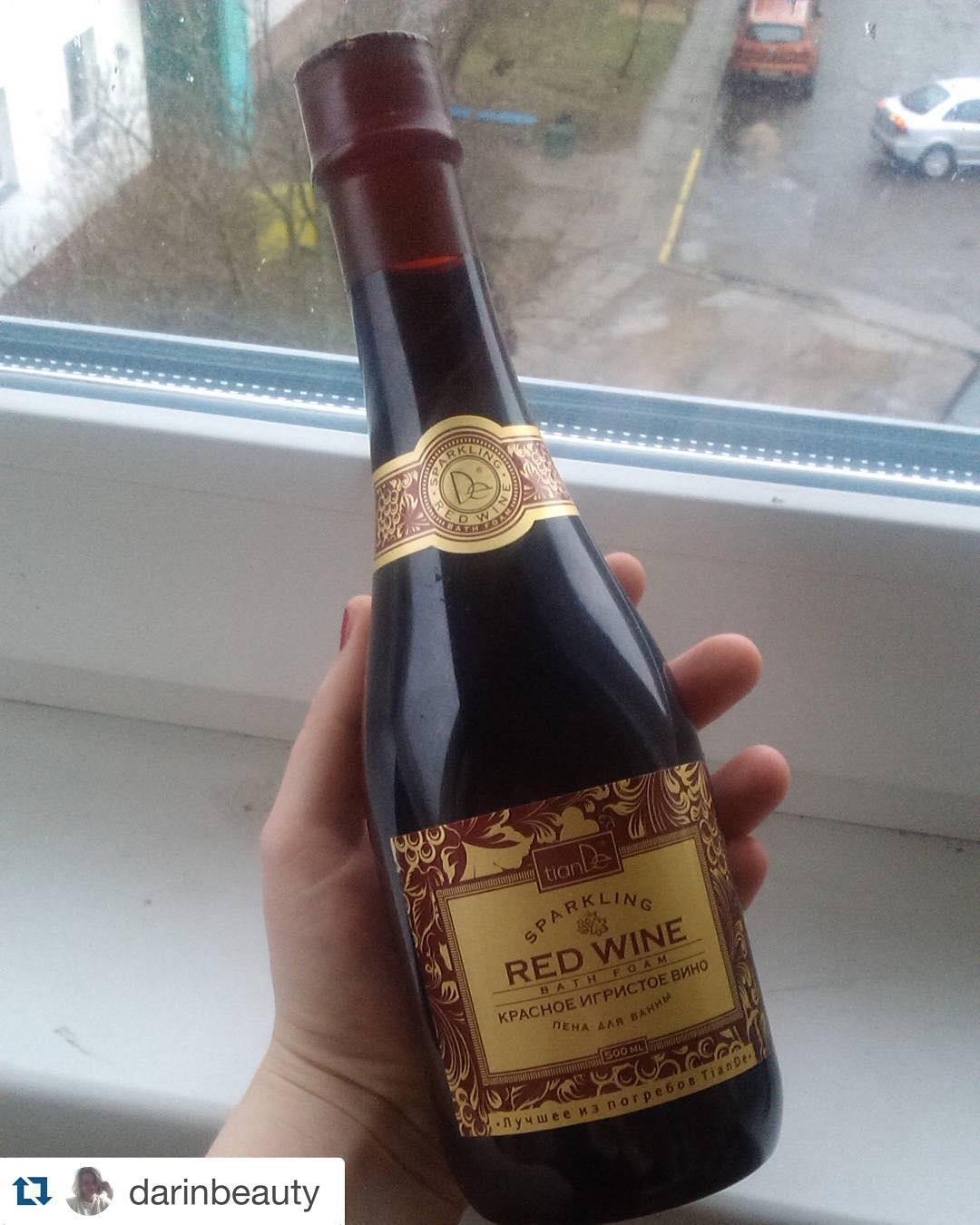 Пена для ванны Красное игристое вино TianDe ТианДе