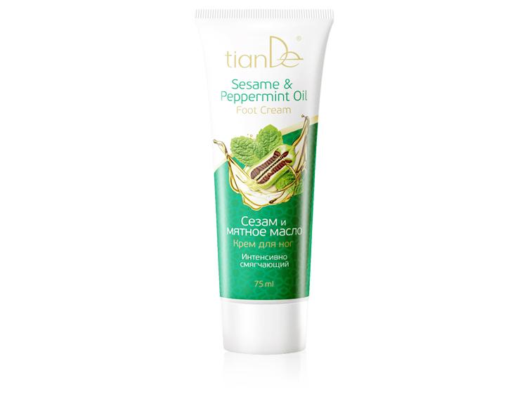 купить Крем для ног «Сезам и мятное масло» TianDe – Для комплексного ухода за кожей ног! ТианДе
