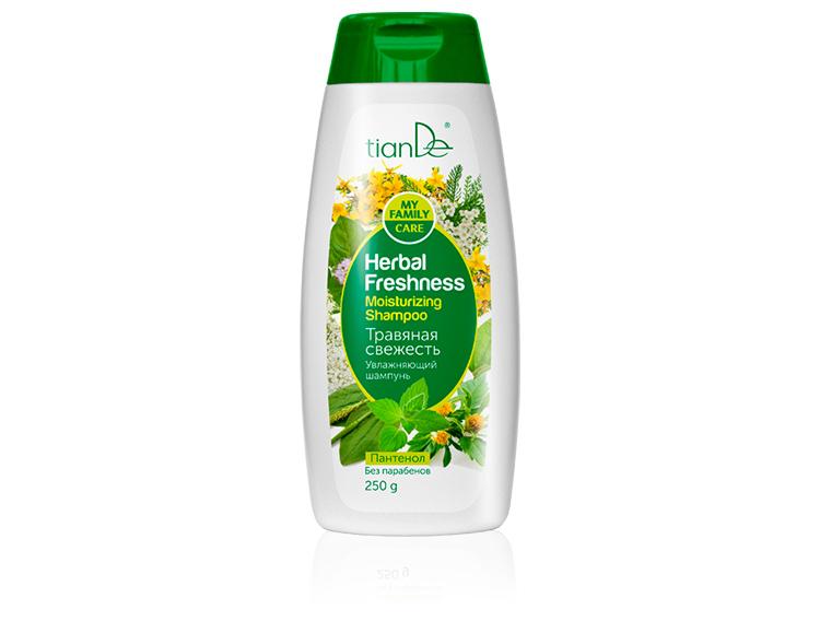 купить Увлажняющий шампунь «Травяная свежесть» TianDe – Сила искрящейся зелени на твоих волосах! ТианДе