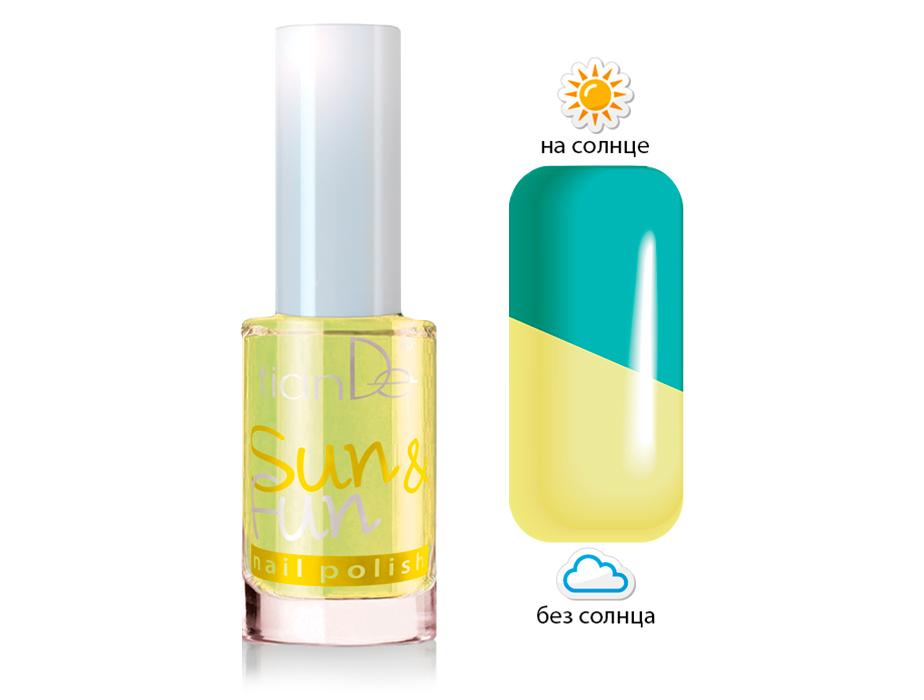 купить Лак для ногтей Sun & Fun TianDe – 2 оттенка в 1 флаконе! Для модного маникюра! ТианДе