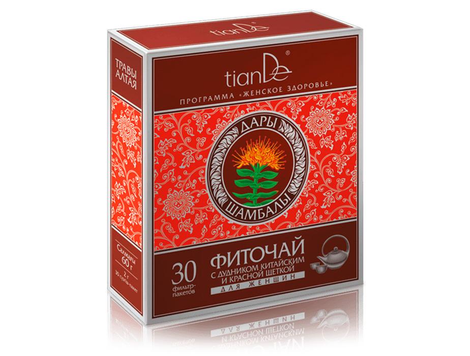 купить Фиточай с дудником китайским и красной щеткой для женщин TianDe – Гармония на клеточном уровне ТианДе