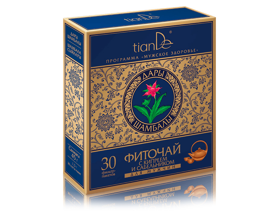 купить Фиточай с кипреем и сабельником для мужчин TianDe - Поддержка для сильного пола ТианДе