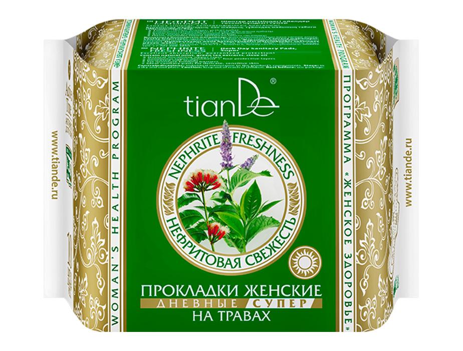 купить Прокладки женские на травах «Нефритовая свежесть» дневные супер TianDe ТианДе