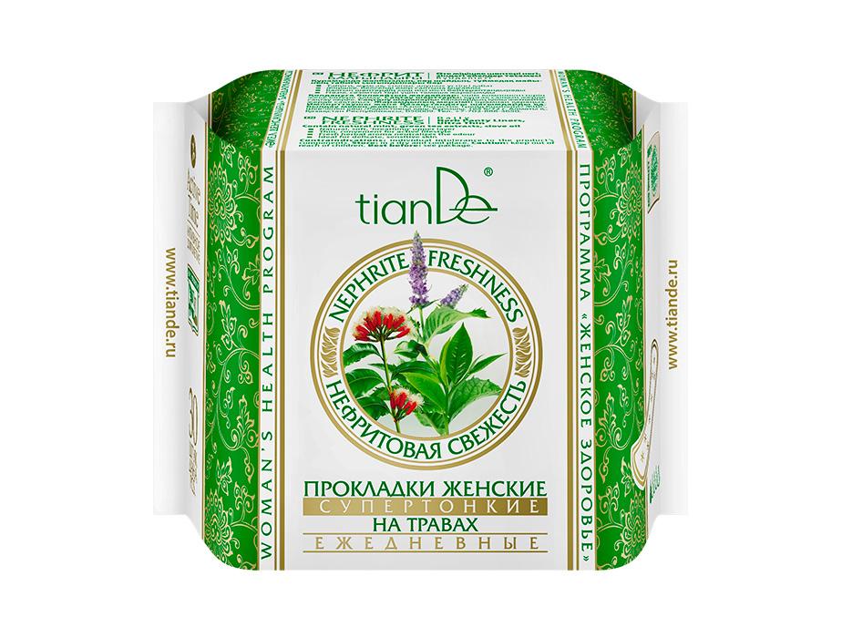 купить Прокладки женские на травах «Нефритовая Свежесть» супертонкие ежедневные TianDe ТианДе