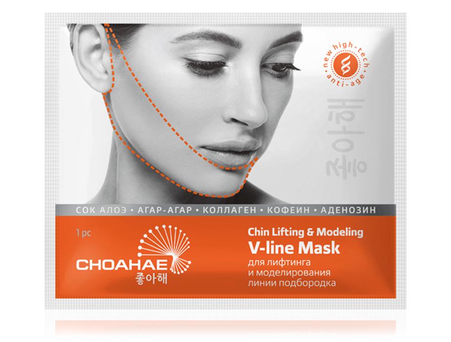 купить Корейская V-line маска для лифтинга и моделирования линии подбородка Choahae - Косметическая подтяжка овала лица! ТианДе