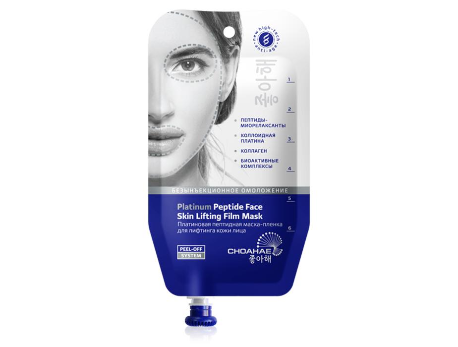 купить Корейская платиновая пептидная маска-пленка для лифтинга кожи лица Choahae TianDe - Безынъекционное омоложение: «ювелирная» работа ТианДе