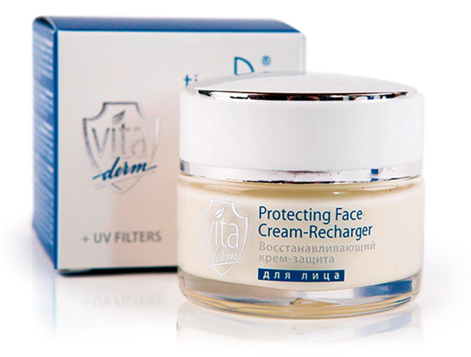 купить Восстанавливающий крем-защита для лица Vita Derm - Останови «цифровое старение» ТианДе