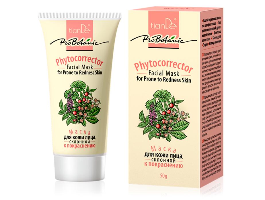 купить Маска для кожи лица склонной к покраснению «Фитокорректор» Pro Botanic - Сотри с лица покраснения! ТианДе