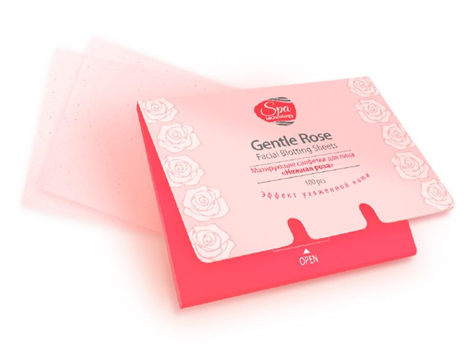 купить Матирующие салфетки для лица «Нежная роза» Spa Technology TianDe - Матовая кожа в одно прикосновение ТианДе