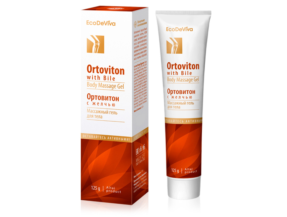 купить Массажный гель для тела «Ортовитон» с желчью EcoDeViva TianDe - Здоровый тон твоих суставов. ТианДе